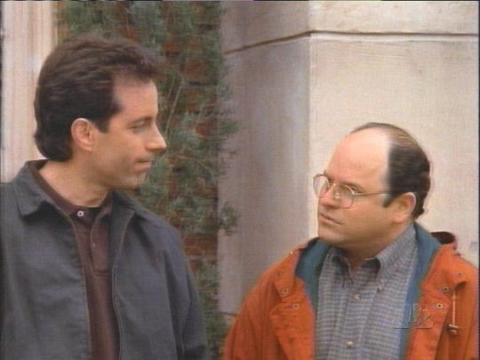 Jerry Seinfeld and Jason Alexander in a scene from the final episode of Seinfeld --- DATE TAKEN: 5/14/98     NBC , Source: NBC       HO      - handout ORG XMIT: UT72213