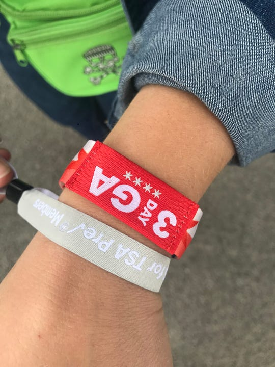 TSA PreCheck members and those who signed up on site got a wristband to use the TSA fast pass line at Country LakeShake, an annual music festival in Chicago.