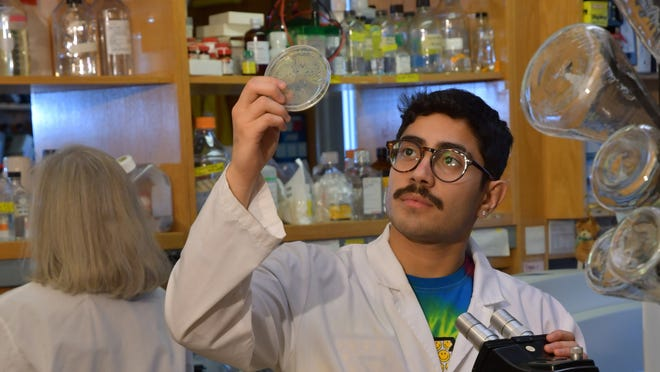 Biology major Luis Ovando is a McNair scholar, part of a national fellowship program for academically talented students.