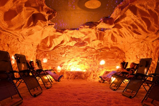 Halo Salt Cave health spa is located at 2625 W. New Haven Avenue in Melbourne. Among their services is a Himalayan salt cave with 12 zero gravity chairs.
