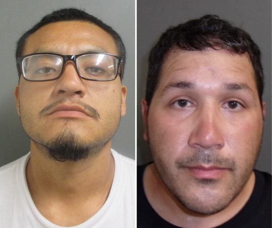 Carlos Chumacero, left, 27, and  Henry Roland Gonzales Jr.