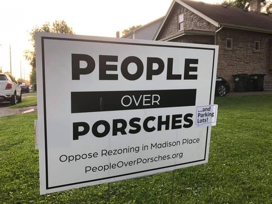 A group of residents in the Madison Place neighborhood of Columbia Township are opposing expansion plans of Porsche of the Village and other automobiles-sales businesses.