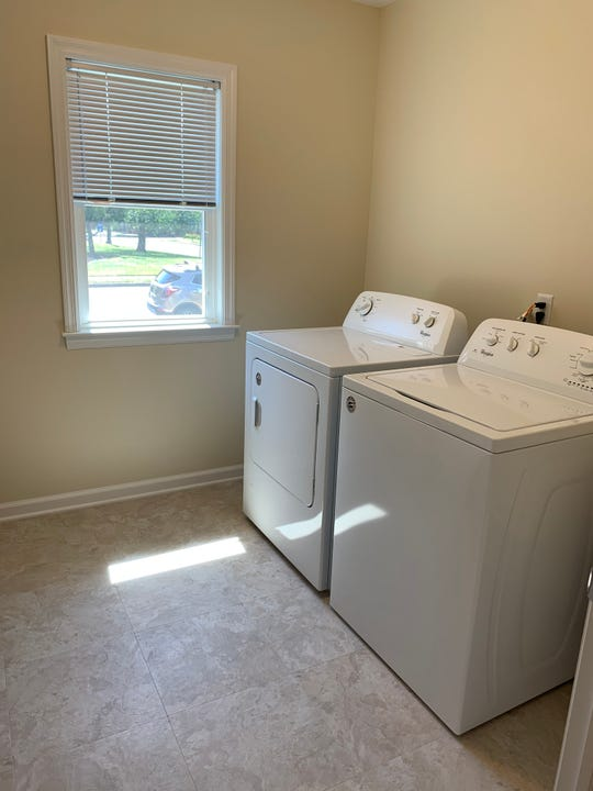 The laundry room of the Healing Home, which used to be a breezeway.