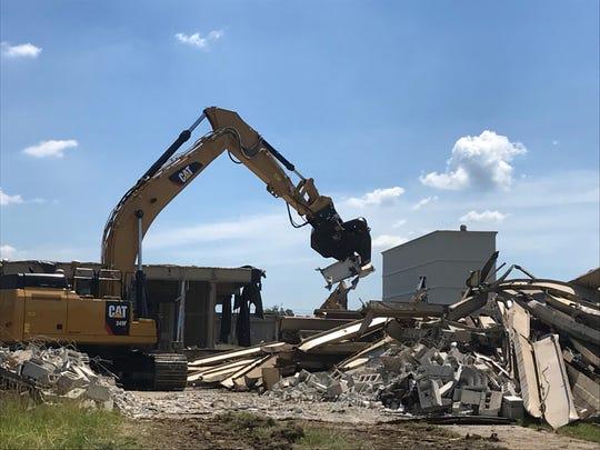Demolition has begun at 110 Tices Lane in East Brunswick.