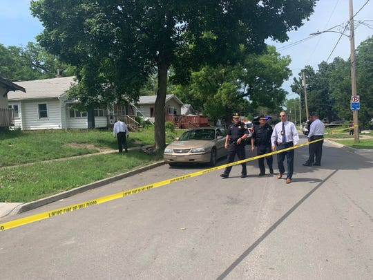 Police investigate a shooting in the 1700 block of 22nd Street in Des Moines on Friday, June 28, 2019.