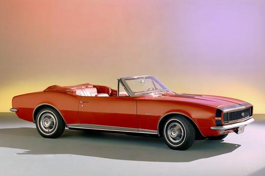 A 1967 Chevrolet Camaro convertible.