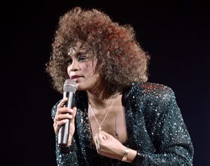 Whitney Houston performing in 1988.