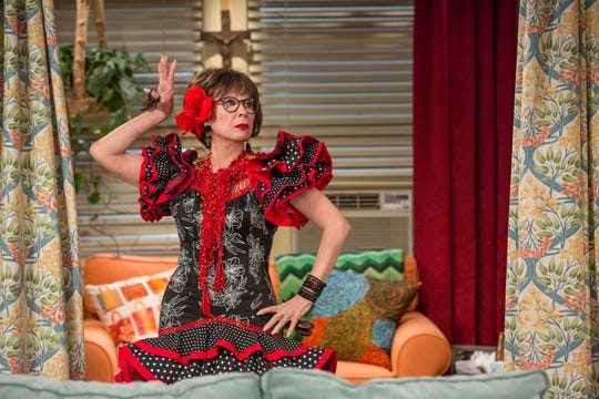 "Rita Moreno in a scene from ""One Day At A Time."" The series, a remake of the 1970's-80's Norman Lear TV series, centers on a Cuban-American family."