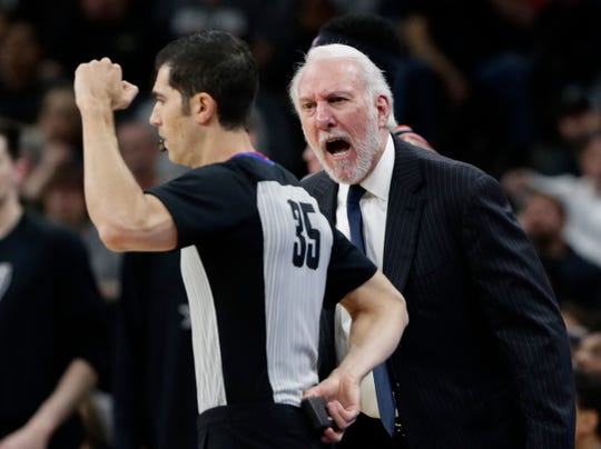 It's likely NBA coaches, including San Antonio's Gregg Popovich, will be challenging one call per game next season.