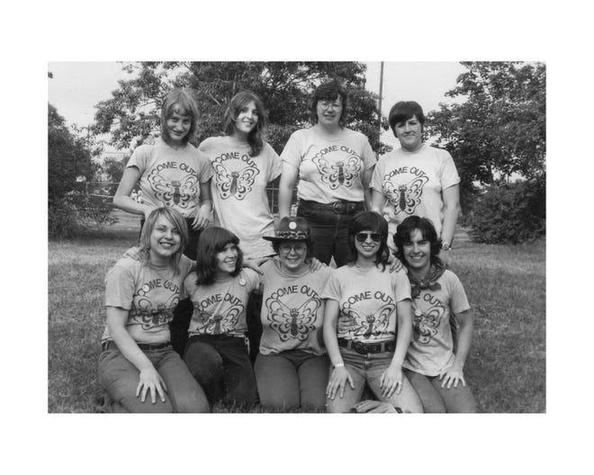 """Women who took part in the first-ever Detroit gay-pride march 47 years ago, """"Christopher Street '72."""""""
