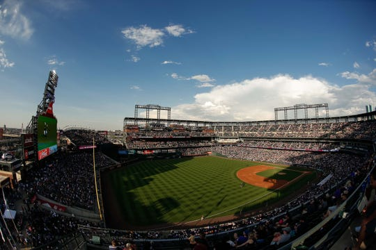 The Colorado Rockies will complete a four-game home series with the Los Angeles Dodgers with a 1:10 p.m. game Sunday at Coors Field in Denver.