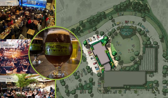 An artist's rendering of the new Fort Myers Brewing Co. event space in Gateway highlights the new beer hall.
