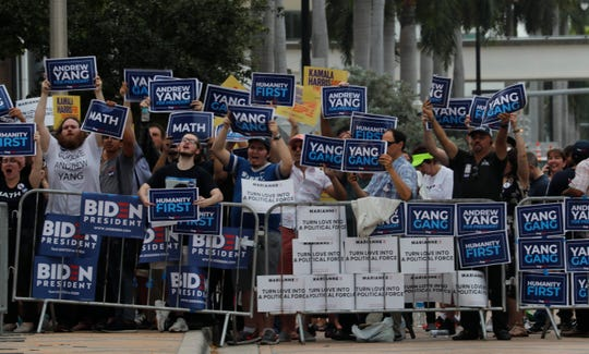 Supporters and protesters alike converged in Downtown Miami for day two of the Democratic debate at the Adrienne Arsht Center on Thursday, June 27, 2019.