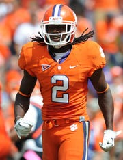 Sammy Watkins (2) is Clemson's record holder for receptions in a season and career receiving yards.