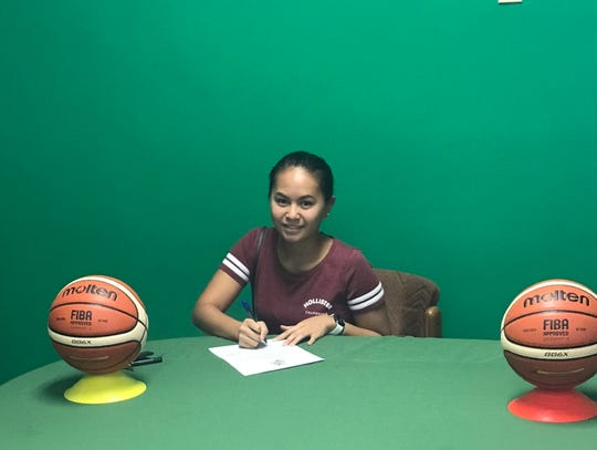 Danielle Robles has signed to play basketball for the University of Guam Lady Tritons.