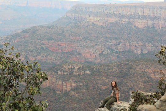 Bailey Stauffer at Blyde River Canyon in South Africa (June 2019).