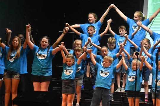 Participants in Holston Middle School's first music camp perform for family members during the final day of camp, Friday, June 28.