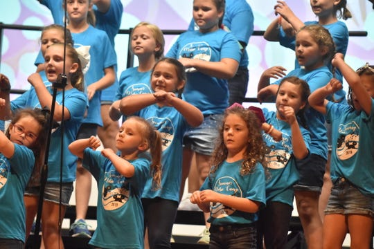 Participants at Holston Middle Schools first music camp learned songs celebrating 100 years of Disney and performed them (complete with dance motions) for family and friends at the conclusion of camp on Friday, June 28.