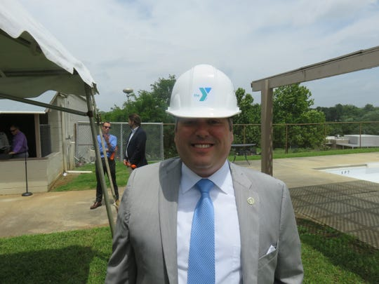 City Councilman Andrew Roberto, who once competed in swim meets at the West Side YMCA pool, attended the groundbreaking on June 24, 2019.