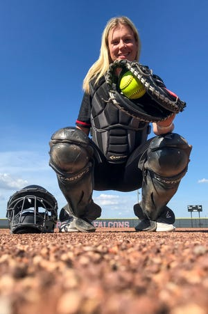 KC Clapper is the Journal & Courier Small School Softball player of the year, Thursday, June 27, 2019 in Frontier.
