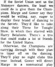 This clip is from a June 19, 1958 syndicated entertainment column.