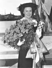Only one Manitowoc woman was a submarine sponsor: Marie (Roen) Crosby (pictured) christened the USS Guavina.
