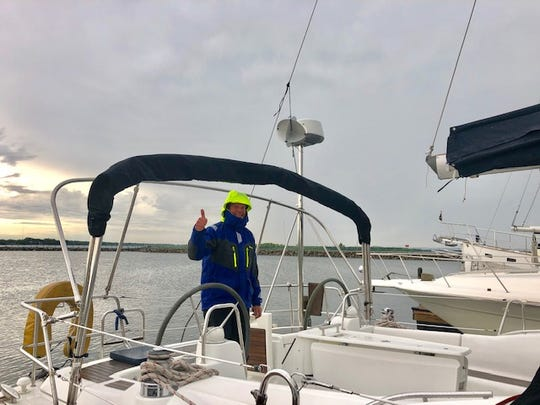 Mark Mahowald, of Newton, won the prestigious Mac Solo Challenge Single-handed sailboat race that started in Chicago on June 22 and ended at Mackinac Island.