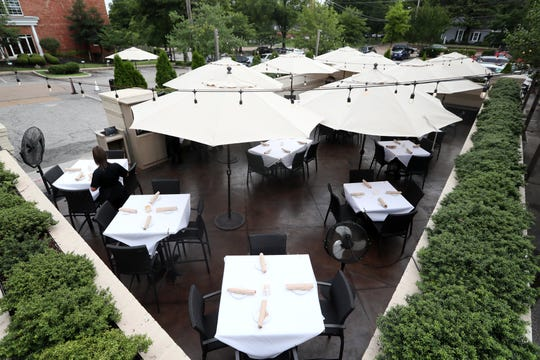 Southern Social in Germantown with outdoor seating for diners, one of our picks for top outdoor patios.