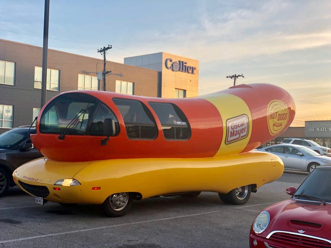 The iconic Oscar Mayer Wienermobile visits East Memphis in 2019.