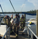 Boat catches on fire at Calusa Marina