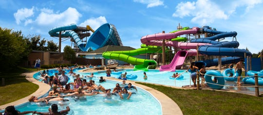 The lazy river is a relaxing way to drift throughout the Raging Waves waterpark.