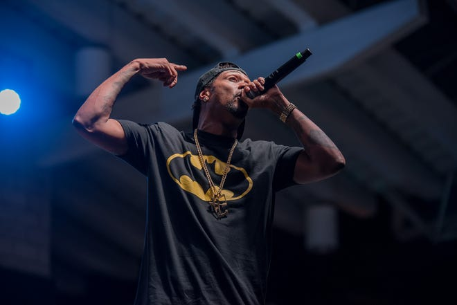 Bone Thugs-N-Harmony performs at Johnson Controls World Sound Stage on June 27, 2019.