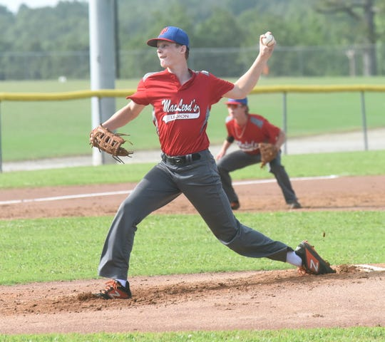 MacLeod pitcher Andrew Cantway delivers at Salem on Thursday night.