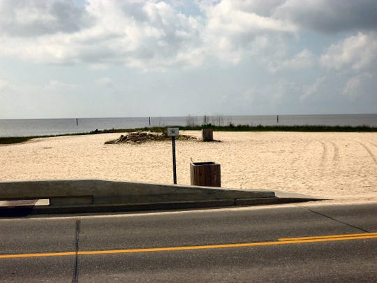 Buccaneer State Park Beach is among those closed to swimming along the Mississippi Gulf Coast.