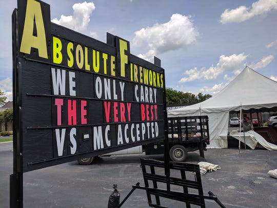 Absolute Fireworks has a tent at 131 Cason Lane in Murfreesboro.