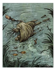 Lady Liberty also drowned at border, with child and her father.