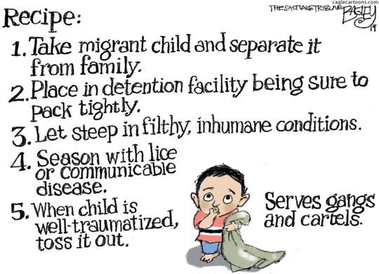 Children detained at border.