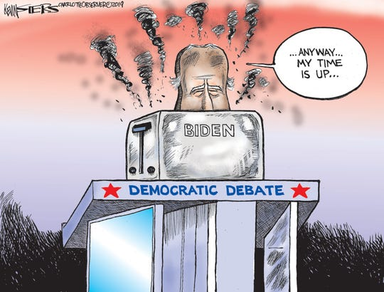 Biden is toasted at debate.