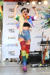 Lady Gaga participates in the second annual Stonewall Day honoring the 50th anniversary of the Stonewall riots, hosted by Pride Live and iHeartMedia, in Greenwich Village on Friday, June 28, 2019, in New York. (Photo by Greg Allen/Invision/AP)