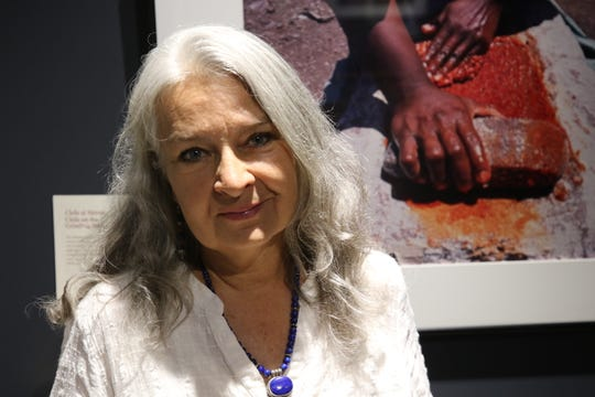 Diana Molina, 61, hosted an photography exhibit depicting the Tarahumara people of Mexico.