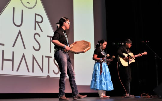 The group Our Last Chants performs during the second annual Navajo Film Festival on June 22 in Shiprock.
