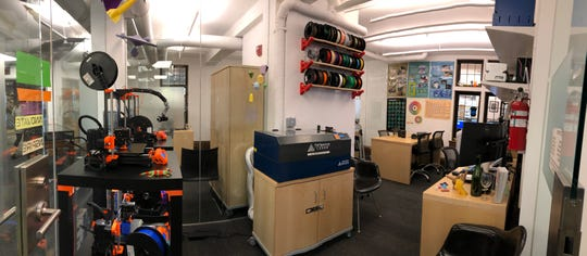 The interior of theBaldwin Library's Idea Lab.