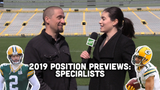 Jim Owczarski and Olivia Reiner take a look at the Packers' specialists heading into training camp and the 2019 season.