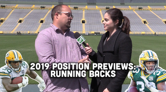 Ryan Wood and Olivia Reiner take a look at the Packers' running backs heading into training camp and the 2019 season.
