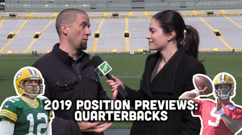 Jim Owczarski and Olivia Reiner take a look at the quarterback depth chart heading into training camp and the 2019 season.