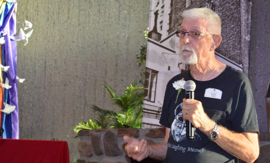 Richard Pass, a volunteer at Stonewall Gardens assisted living village in Palm Springs, talks about his experience in New York the night the Stonewall uprising began in 1969. He spoke June 27, 2019, at the United Methodist Church of Palm Springs' Stonewall Commemoration 50th Anniversary service.