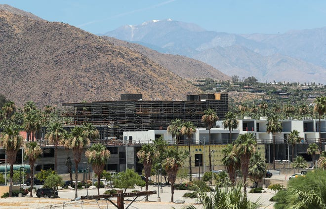 The Andaz hotel is currently under construction in downtown Palm Springs on Alejo Road and Palm Canyon Drive, June 28, 2019.