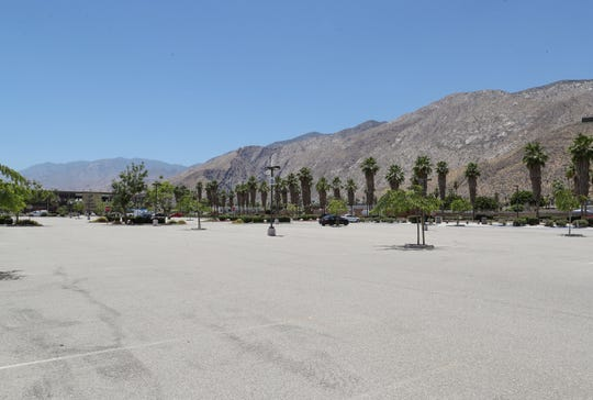The site of a new privately financed sports and entertainment arena on Agua Caliente land in downtown Palm Springs, June 27, 2019.