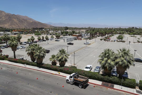 A large parking lot will turned into a new privately financed sports and entertainment arena on Agua Caliente land in downtown Palm Springs, June 27, 2019.