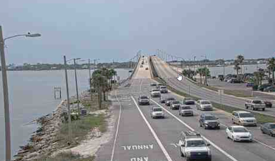 Escambia County has installed new traffic cameras that show a live feed of traffic to Pensacola Beach.